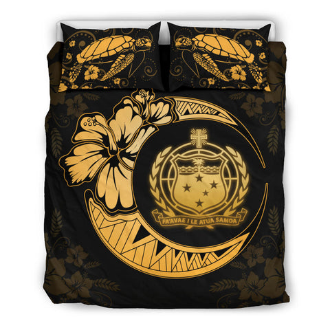Samoa Polynesian Bedding Set Yellow