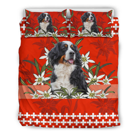 Image of Switzerland Bedding Set Bernese Mountain Dog Red 1