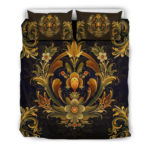 Image of Norway Rosemaling Design Bedding Set 1