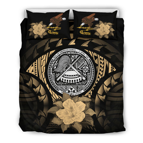 Image of American Samoa Gold Hibiscus Bedding Set A02