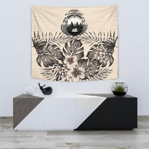 Costa Rica Tapestry - The Beige Hibiscus A7