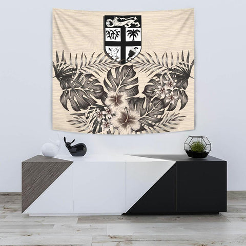 Image of Fiji Tapestry - The Beige Hibiscus A7