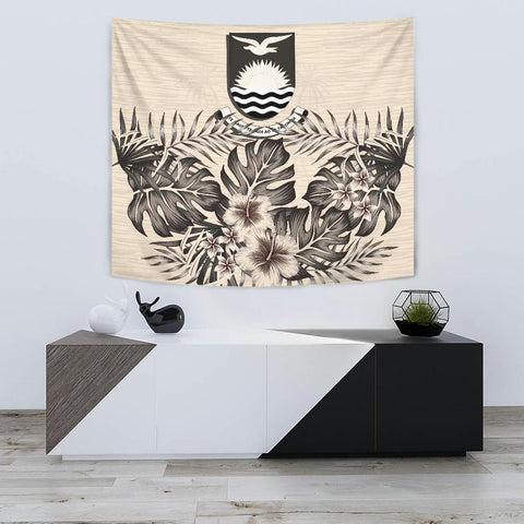 Image of Kiribati Tapestry - The Beige Hibiscus A7