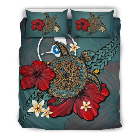 Yap Bedding Set - Blue Turtle Tribal A02