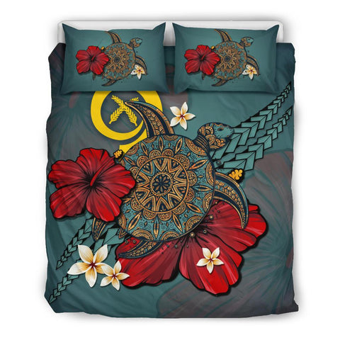 Image of Vanuatu Bedding Set - Blue Turtle Tribal A02