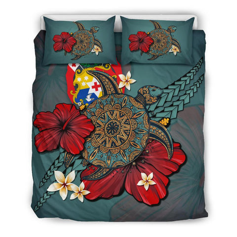 Image of Tonga Bedding Set - Blue Turtle Tribal A02