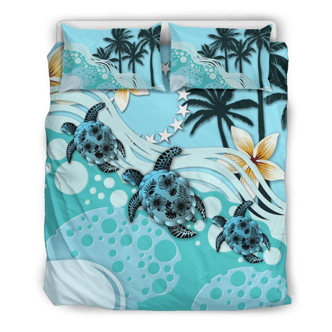 Cook Islands Bedding Set - Blue Turtle Hibiscus | Love The World