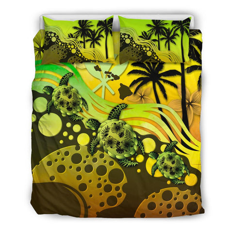 Hawaii Bedding Set - Reggae Turtle Hibiscus | Love The World