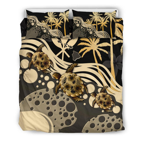 Hawaii Bedding Set - Gold Turtle Hibiscus | Love The World