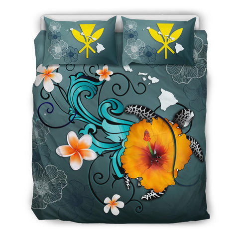 Hawaii Bedding Set - Map Turtle Hibiscus | Love The World