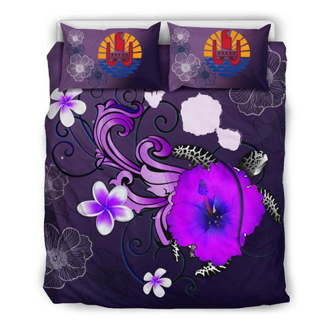 Tahiti Bedding Set - Map Turtle Hibiscus | Love The World
