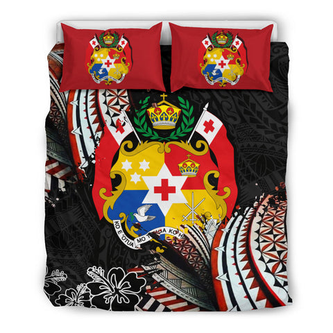 Image of Tonga Coat Of Arms Ngatu Bedding Set K5