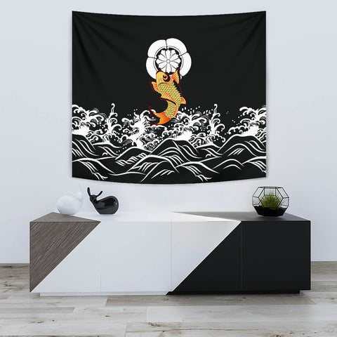 The Golden Koi Fish Tapestry A7