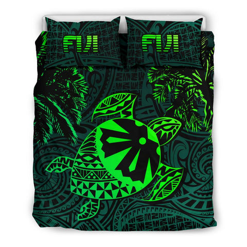 Fiji Islands Green Tapa Turtle Bedding Set | Home Set | 1sttheworld