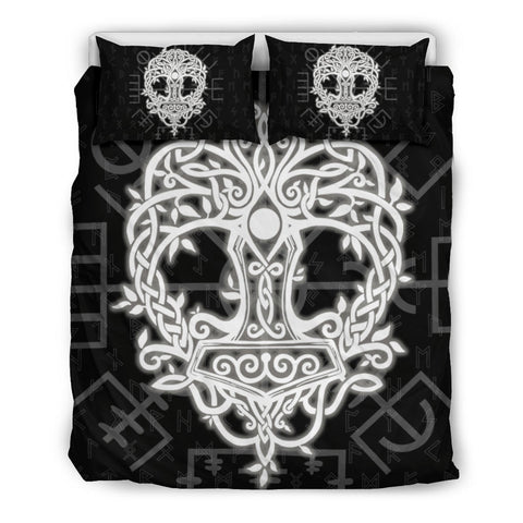 Image of Norse Viking Bedding Set - Thor's Hammer Yggdrasil