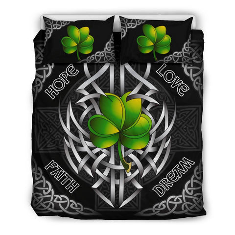 Irish Bedding Set - Celtic Shamrock and Cross | Love The World