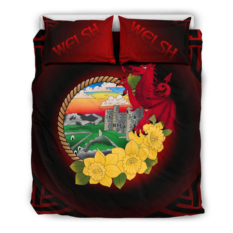 Welsh Bedding Set - Wales Dragon and Daffodil | Love The World
