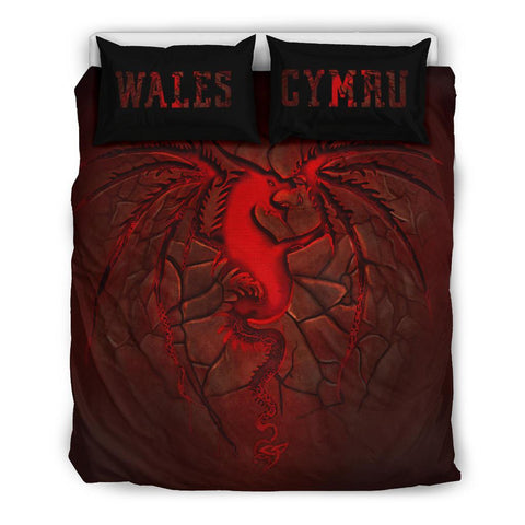 Wales Bedding Set, Welsh Dragon Lava | Home Decor | Love The World