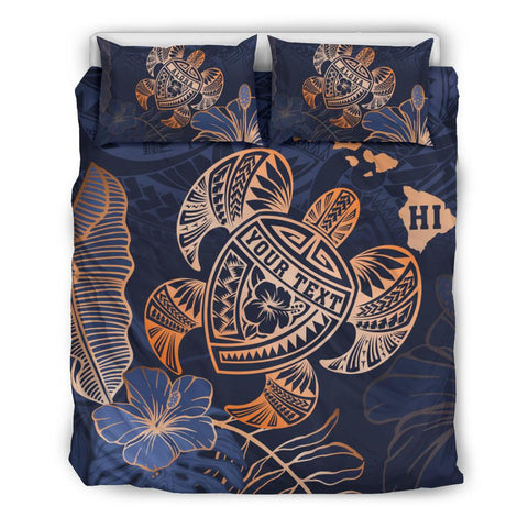 Personalized - Hawaii Polynesian Turtle Hibiscus Tropical Bedding Set - Limited Edition - AH - J6