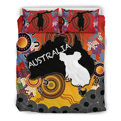 Australia Aboriginal Bedding Set With Map TH4