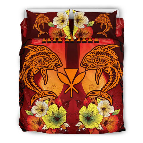 Hawaii Bedding Sets - Tribal Tuna Fish - BN39