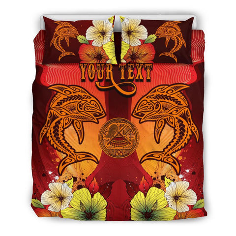 American Samoa Custom Personalised Bedding Sets - Tribal Tuna Fish