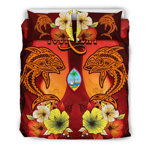 Image of Guam Custom Personalised Bedding Sets - Tribal Tuna Fish - BN39