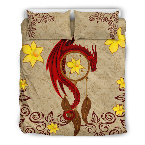 Wales Dragon Daffodil Bedding Set K5