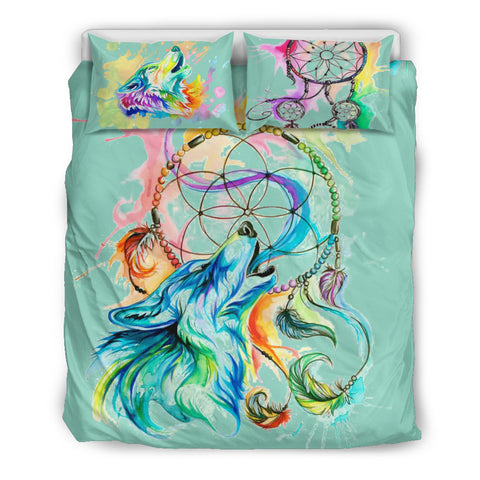 Wolf Dreamcatcher Bedding Set A4