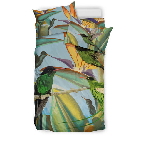 Image of Jamaica Doctor Bird Bedding Set Ôªø- Jamaican Bedding Set - Bedding Set - Doctor Bird - Jamaican Bird - Doctor Bird Bedding Set - Jamaica Symbols
