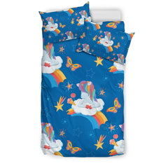 Rainbow Unicorn Bedding Set- Unicorn Duvet Cover/2 Pillow Covers H21