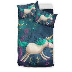 Dream Unicorn Bedding Set - Unicorn Duvet Cover/ 2 Pillow Covers H21