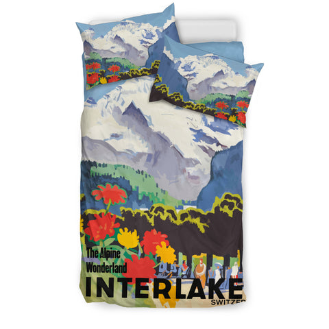 Image of Switzerland Bedding Set - Interlaken Town K3