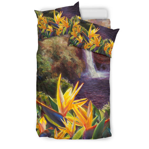 Rainbow Falls Hawaii Bedding Set J8