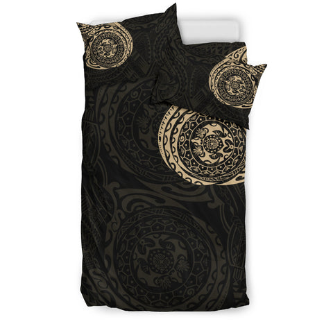 Image of Polynesian Tattoo Style Bedding Set A7