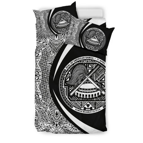 Image of American Samoa Coat Of Arms Polynesian Bedding Set - Circle Style 01 J9
