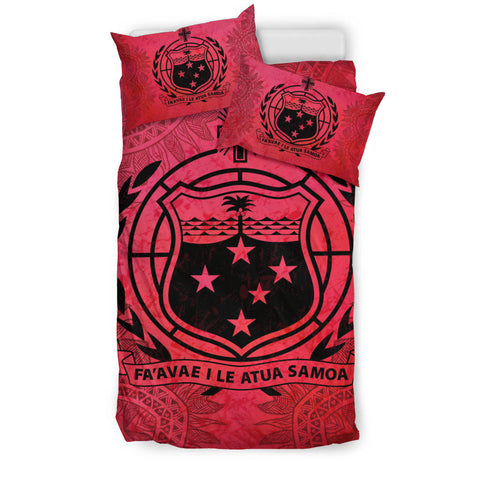 Image of Samoa Red Bedding Set | Home Set | Love The World