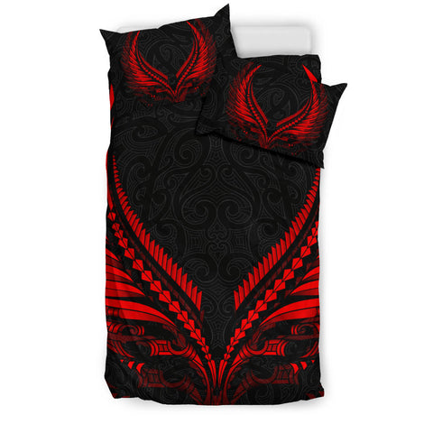 New Zealand - Maori Fern Tattoo Red Bedding Set A7