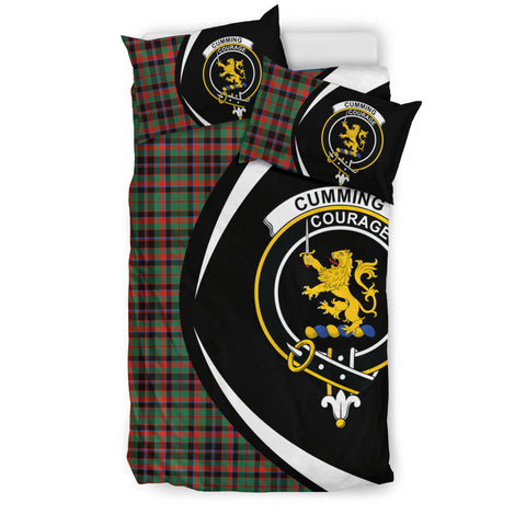 Cumming Hunting Ancient Tartan Circle Style Bedding Set