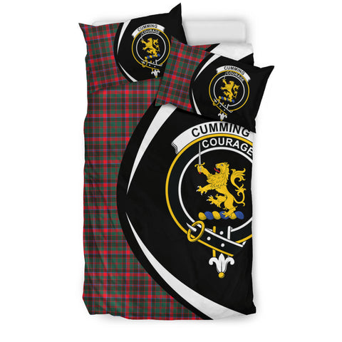 Cumming Hunting Modern Tartan Circle Style Bedding Set
