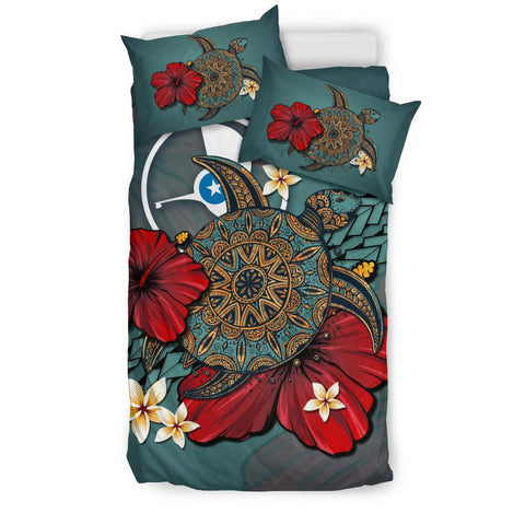 Image of Yap Bedding Set - Blue Turtle Tribal A02