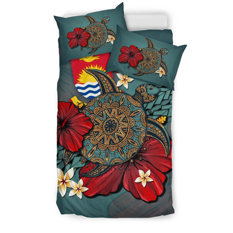 Kiribati Bedding Set - Blue Turtle Tribal A02