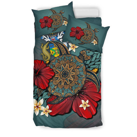 Image of Solomon Islands Bedding Set - Blue Turtle Tribal A02