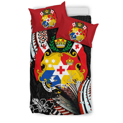 Tonga Coat Of Arms Ngatu Bedding Set K5