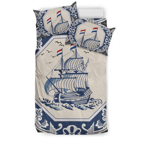 Nederland Bedding Set - Dutch Boat Delft Blue