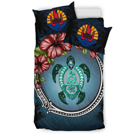 Tahiti Bedding Set - Polynesian Turtle Hibiscus Mother Son A24