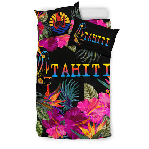 Image of Tahiti Bedding Set - Tropical Flower Hinano Hibiscus A24