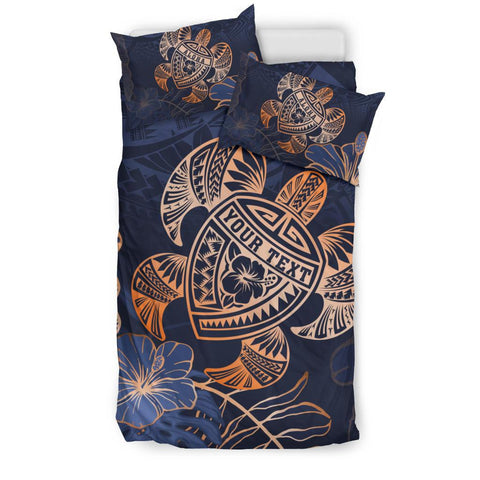 Personalized - Hawaii Polynesian Turtle Hibiscus Tropical Bedding Set - Limited Edition