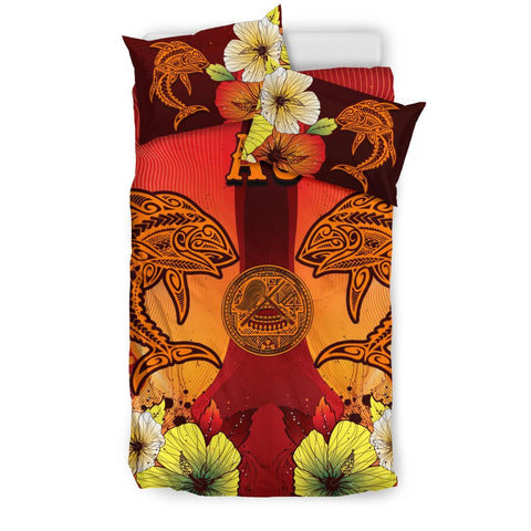 American Samoa Bedding Sets - Tribal Tuna Fish