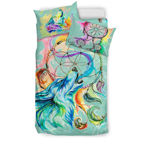 Image of Wolf Dreamcatcher Bedding Set A4